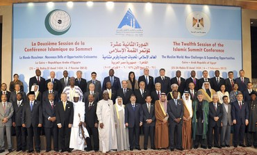 57 leaders of Islamic nations for OIC) summit in Cairo February 6, 2013.