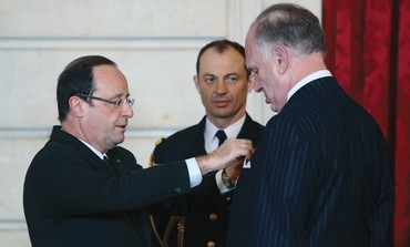 Ronald Lauder gets French Legion of Honor, February 2013.