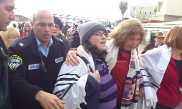 Anat Hoffman arrested during Women of the Wall service