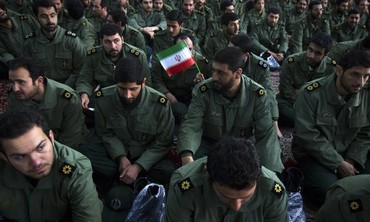 Members of the Iranian Revolutionary Guard (file)