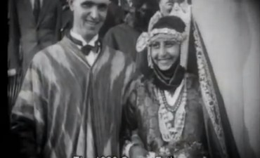 Tel Aviv Mayor Meir Dizengoff with Queen Esther 1928, Tzipora Tzabari.
