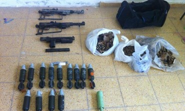 Mortar shells, guns found stashed in school in Abu Sanan