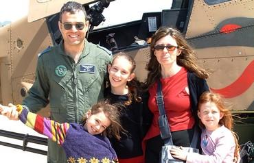 Lieut-Col. (res.) Noam Ron with his family Photo: Courtesy  Ron family