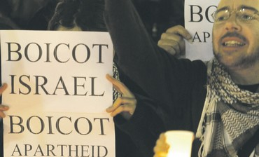 Israel Apartheid Week demonstrators. .