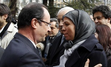 Francois Hollande paying tribute to the victims of 23-year-old gunman Mohamed Merah in Toulouse.