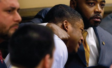 MA'LIK RICHMOND cries after hearing verdict in rape case