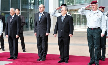 Ceremony for replacing Defense Minister Defense Ministry in Tel - Aviv, March 19, 2013