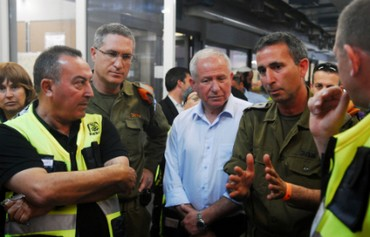 Avi Dichter attends Home Front Command drill , 20 March, 2013