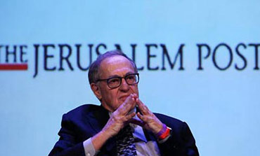 Alan Dershowitz at the Jerusalem Post conference in New York, April 2013.