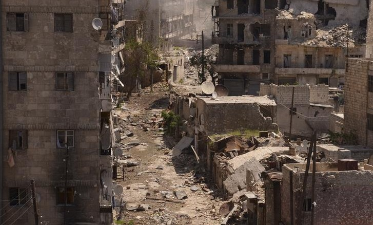 Destruction in Syria.