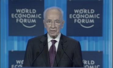 Le président Shimon Peres s'exprimant lors du Forum économique mondial.