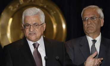 PA President Abbas and Chief PLO negotiator Saeb Erekat [file].