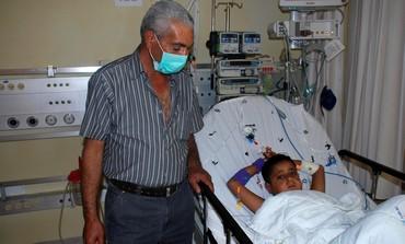 Palestinian boy who got a kidney donation from Jewish boy.