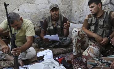 Miembros del Ejército Libre de Siria, Alepo, 4 de julio de 2013.