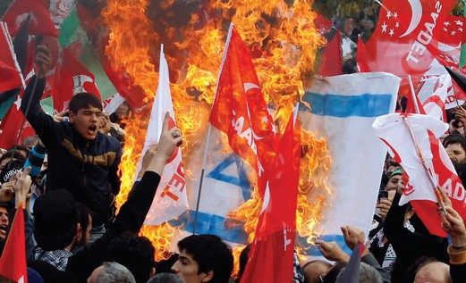 An anti-Israel demonstration in Istanbul, December 2012
