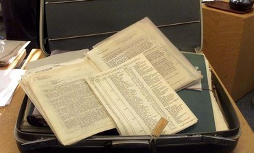 A suitcase belonging to Oskar Schindler with the original copy of a list of over 1,200 Polish Jews.