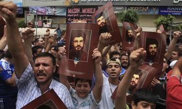 Supporters of Lebanon's Hezbollah leader Sayyed Hassan Nasrallah