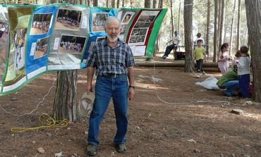 Anatoly Schwartzman, founder and organizer of the Jewish gatherings in the Ovrazki Forest (Courtesy Yosef Begun)