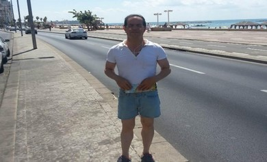 Alleged Iranian spy Ali Mansouri on Tel Aviv beach promenade (Courtesy Shin Bet)