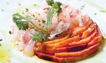 Sea fish carpaccio (Boaz Lavi)