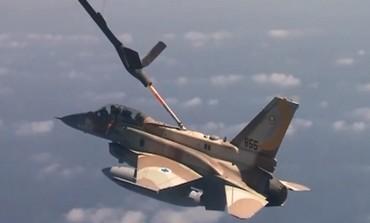 IAF plane refuels midflight during long range mission drill (Courtesy IDF)