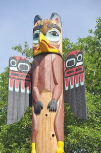 A totem poll in Ketchikan (Irving Spitz)