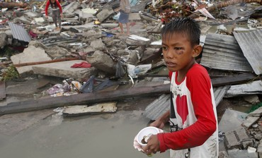 Ruins of houses after Super Typhoon Haiyan battered Tacloban city in central Philippines November 10 Photo: Reuters