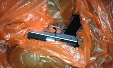 Jericho handgun found at the scene in Kalkilya. (Courtesy IDF)
