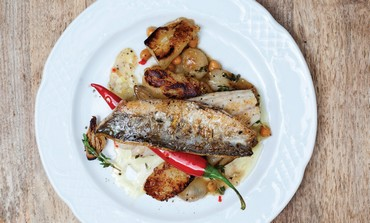 FISH FILLET WITH JERUSALEM ARTICHOKES (Dana Keren)