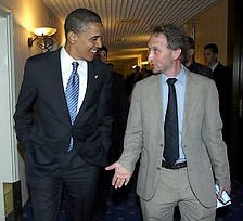 File photo: Horovitz and Obama (Ariel Jerozolimski)