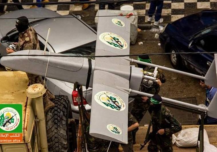 Hamas drone at a military ralley in Gaza (credit: al-Qassam Brigades Arabic website)