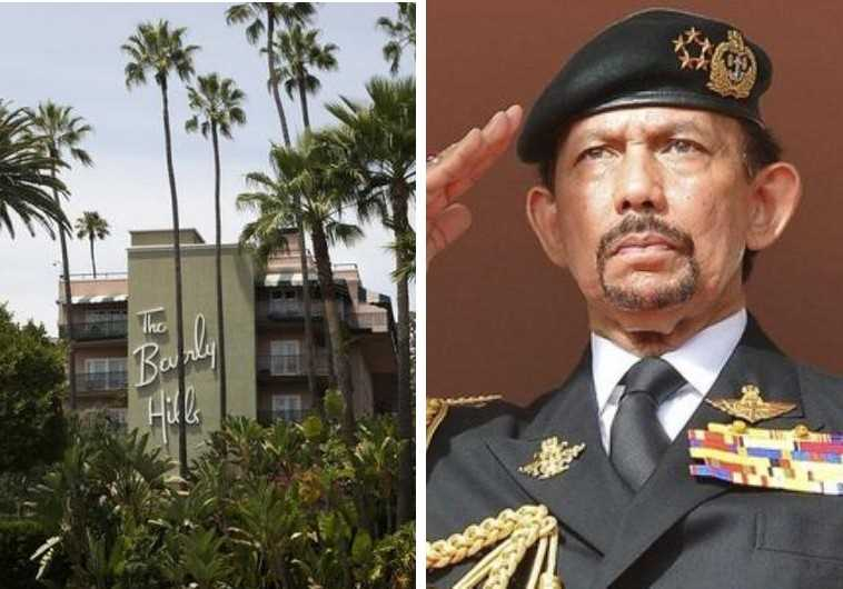 The Beverly Hills Hotel (R) and Sultan of Brunei Haji Hassanal Bolkiah (L)