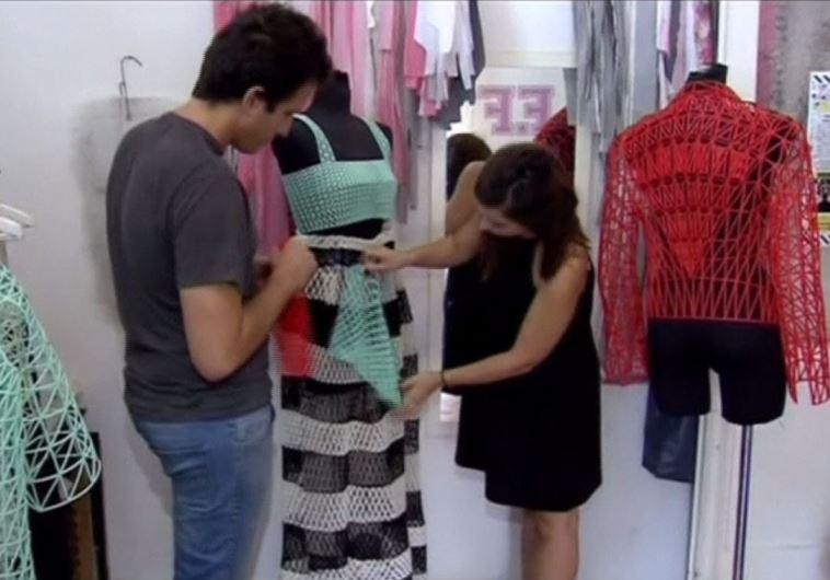 Israeli designer takes 3D printed fashion to a new dimension