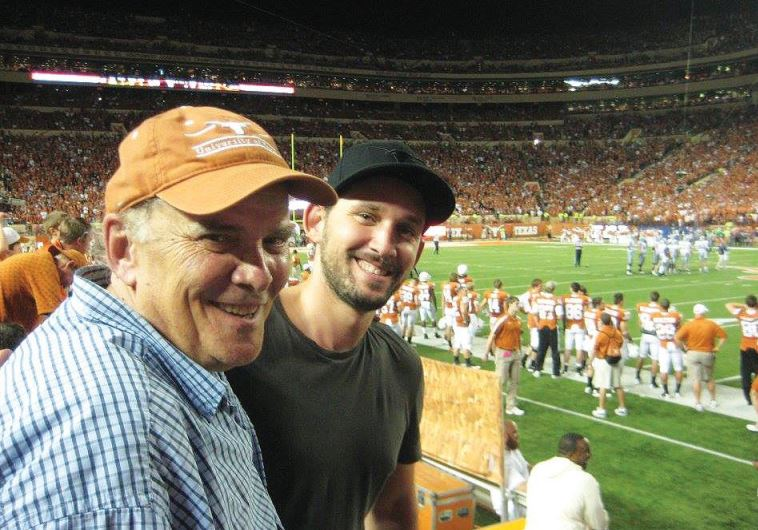 'HE WAS always the person I knew best, the one most like myself,' the writer (right) says of his late father, Lee Hartman (left). (Noah Abdenour)