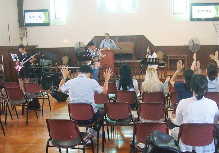South Korean church in Israel (photo credit: JACOB ATKINS)