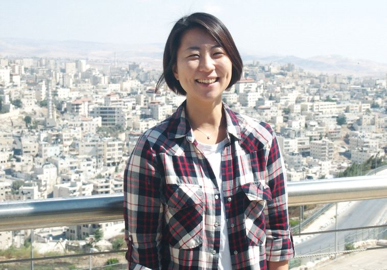 Jihye Roy, from Seoul, is about to begin her master's in art theory in Bezalel (photo credit: JACOB ATKINS)