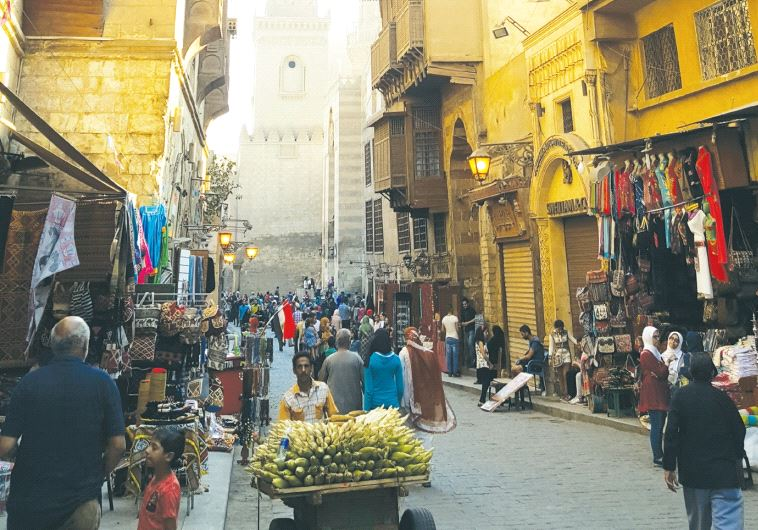 Bustling Khan el-Khalili market in Cairo (photo credit: BEN FISHER)