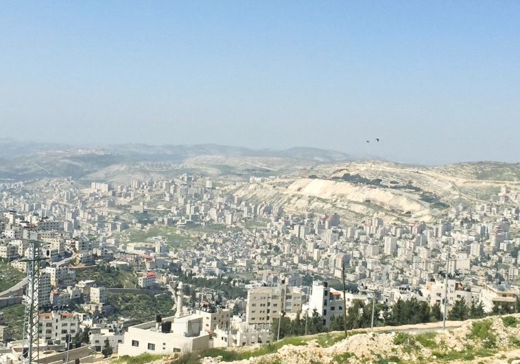 A view of the city of Nablus (photo credit: SETH J. FRANTZMAN)