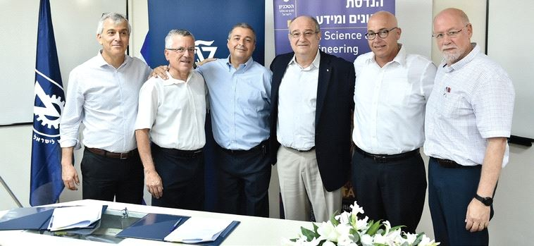 POWERFUL PARTNERSHIP (from left to right): Dr. Yoav Intrator, Prof. Boaz Golani, Arik Pinto, Prof. Peretz Lavi, Avi Kochva and Prof. Avishay Mandelbaum. (Courtesy Bank Hapoalim)