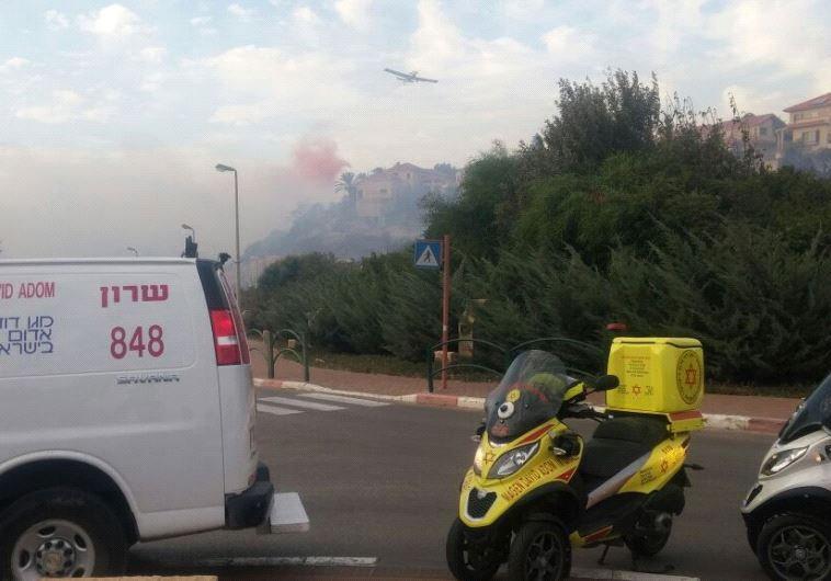 Fire in Zichron Yaakov (MDA)