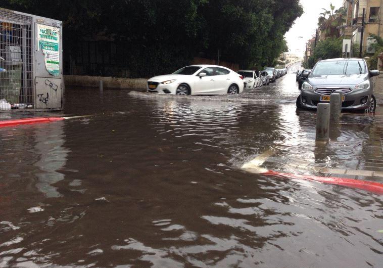 Flooding in Tel Aviv. Credit: Israel Electric Company.