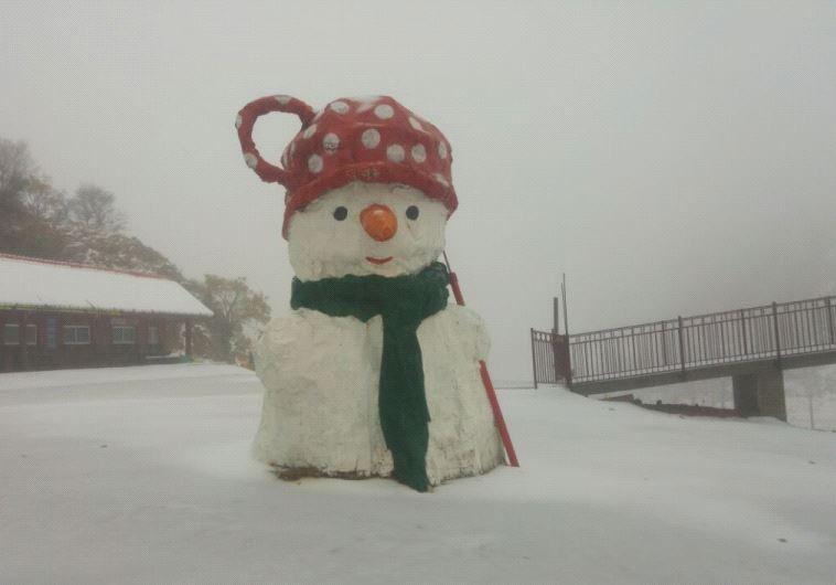 Snow on Mount Hermon. Credit: Mickey Inbar.