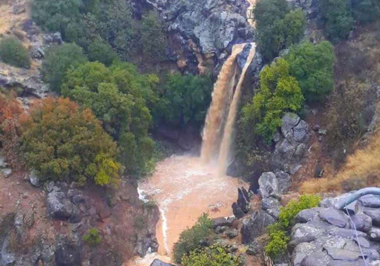 Waterfall in the Golan. Credit: Hillel Gelzman/Israel Nature and Parks Authority