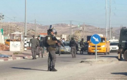Stabbing attempt at Tapuach Junction, terrorist neutralized.(photo credit: DORON MAH TOV/ MIDABRIM BATIKSHORET)