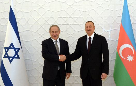 Netanyahu with Azerbaijan President Aliyev