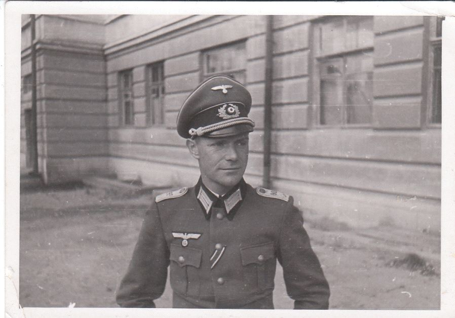 Grandfather Rudolf Spohr, part of the Wehrmacht elite, as an orderly officer in the army high command in 1942 (photo credit: SPOHR FAMILY)