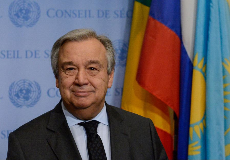 United Nations Secretary-General Antonio Guterres‏. Credit: Reuters