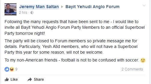 Saltan's Facebook post. Credit: Facebook