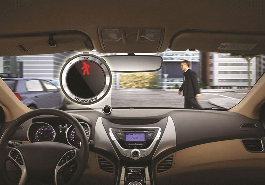 A vehicle equipped with Mobileye technology (credit: courtesy)