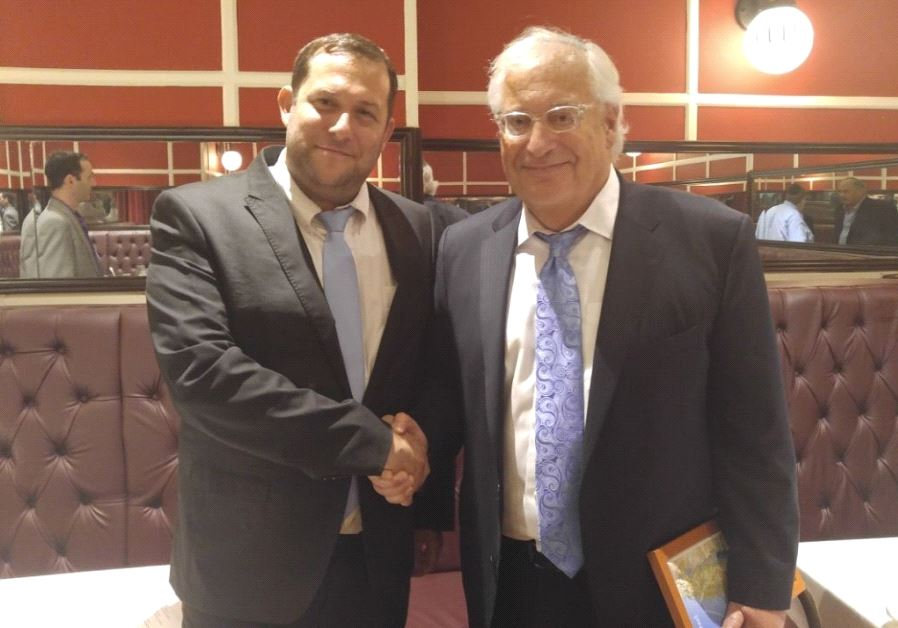 Yossi Dagan (L) with US envoy to Israel appointee David Friedman (photo credit: COURTESY OF THE SAMARIA REGIONAL COUNCIL)